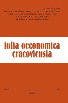 Folia Oeconomica Cracoviensia