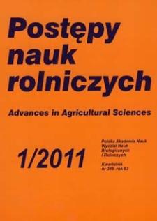 Postępy Nauk Rolniczych