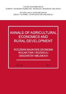 Roczniki Ekonomii Rolnictwa i Rozwoju Obszarów Wiejskich
