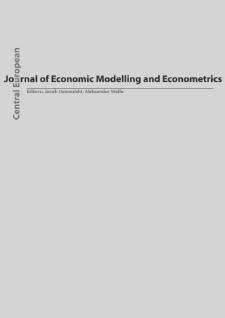 Central European Journal of Economic Modelling and Econometrics