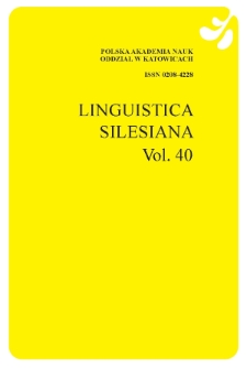 LINGUISTICA SILESIANA