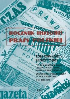 Rocznik Historii Prasy Polskiej