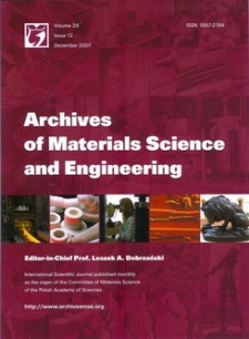 Archives of Materials Science and Engineering